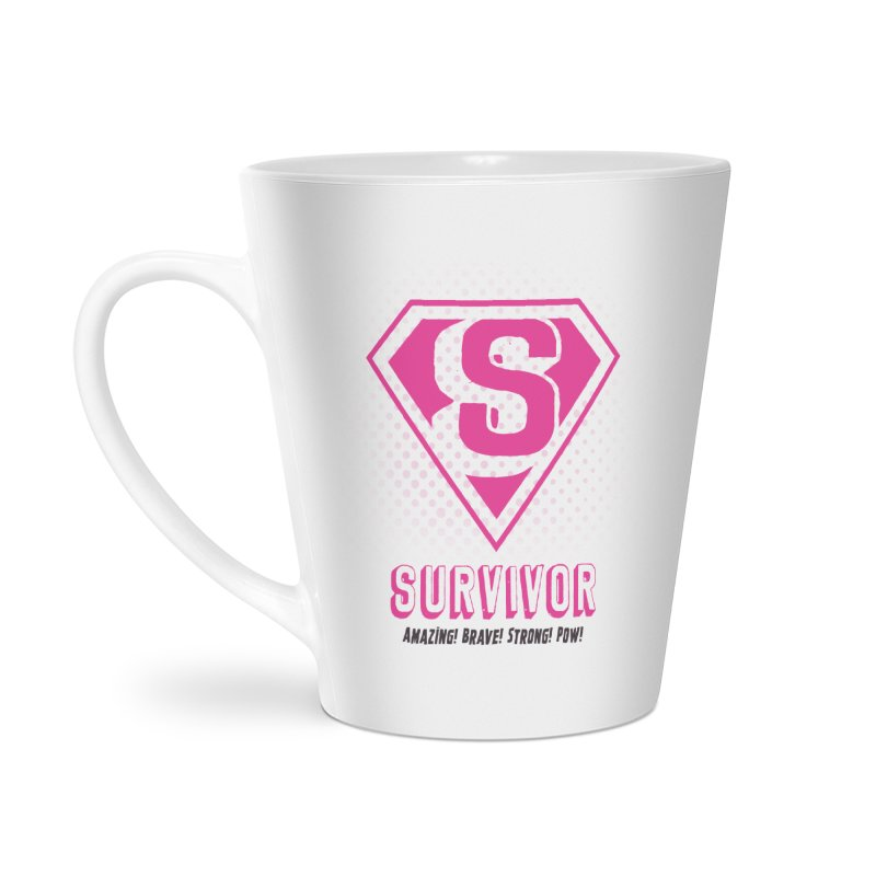 Superwoman Survivor Accessories Latte Mug by Betches Guide to Cancer Shop