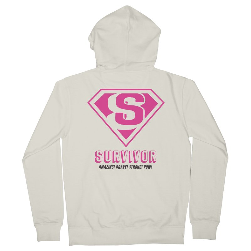 Superwoman Survivor Women's French Terry Zip-Up Hoody by Betches Guide to Cancer Shop