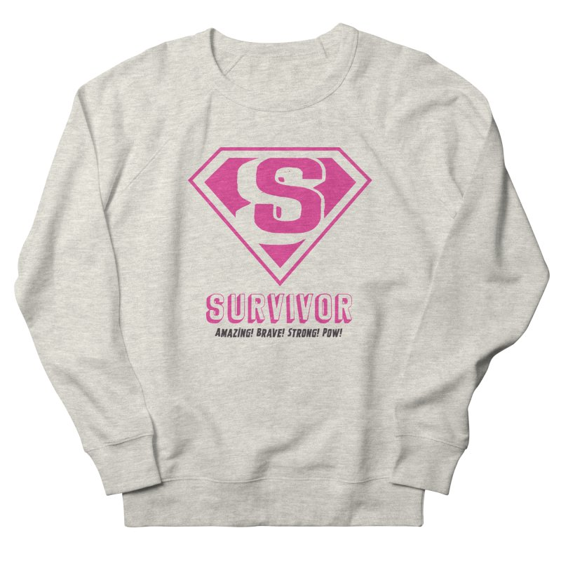 Superwoman Survivor Women's French Terry Sweatshirt by Betches Guide to Cancer Shop