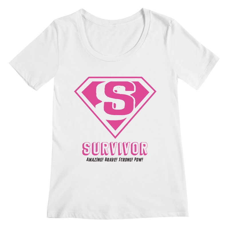 Superwoman Survivor Women's Regular Scoop Neck by Betches Guide to Cancer Shop