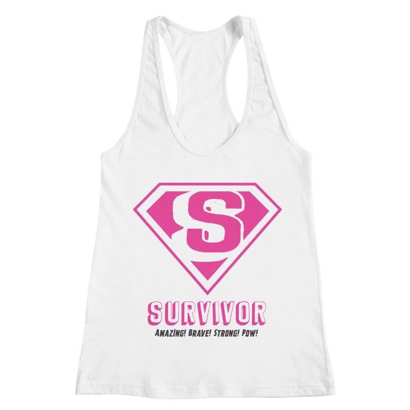 Superwoman Survivor Women's Racerback Tank by Betches Guide to Cancer Shop