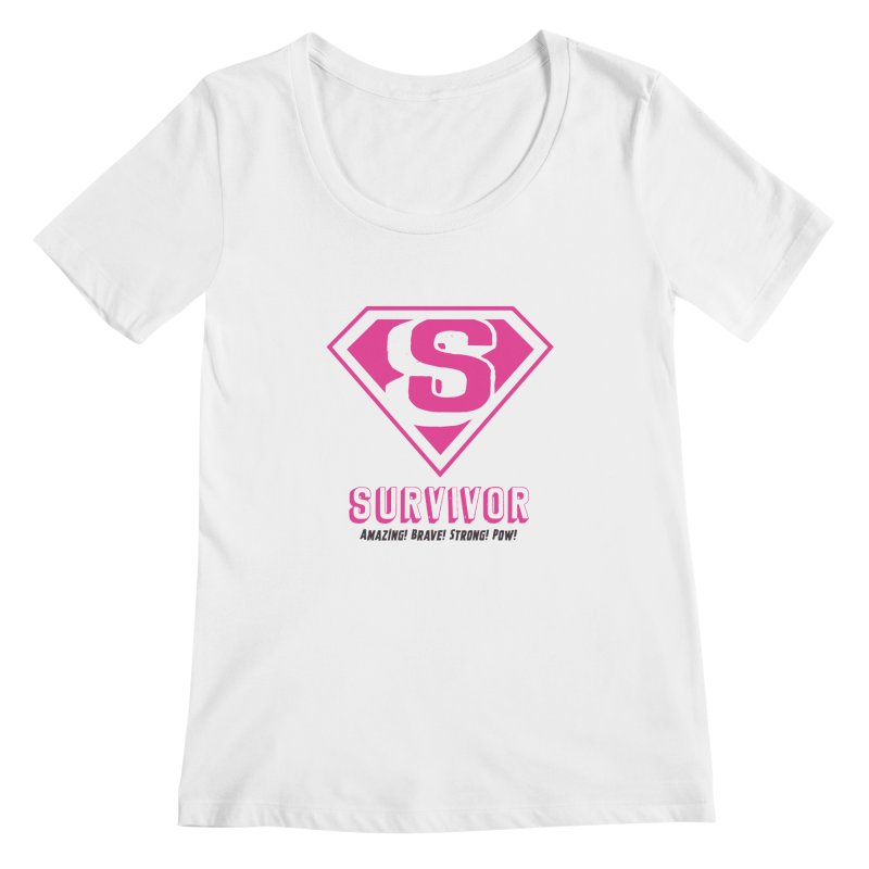 Superwoman Survivor Women's Scoopneck by Betches Guide to Cancer Shop