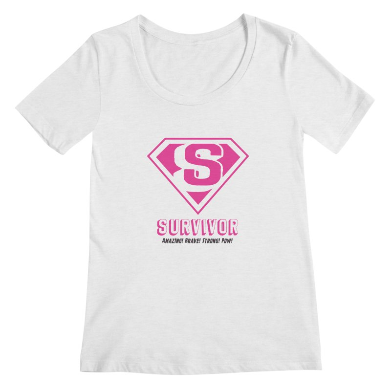 Superwoman Survivor Women's Scoop Neck by Betches Guide to Cancer Shop