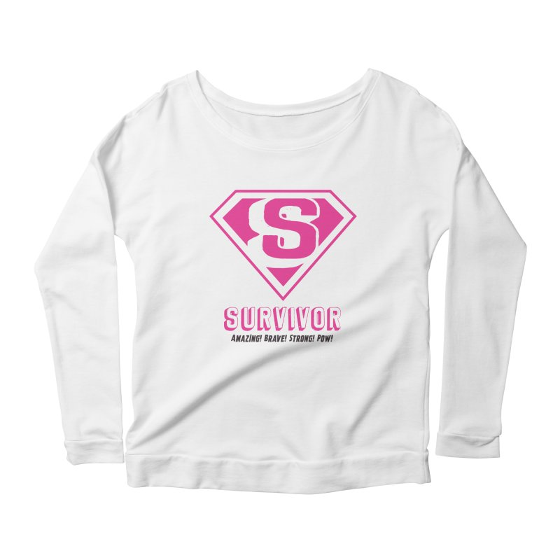 Superwoman Survivor Women's Longsleeve Scoopneck  by Betches Guide to Cancer Shop