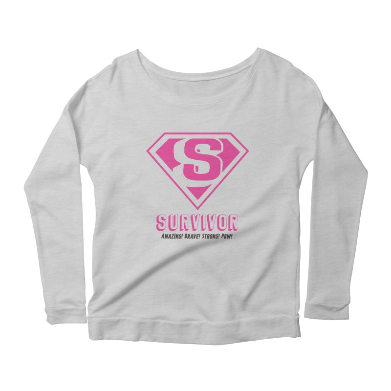 Superwoman Survivor Women's Scoop Neck Longsleeve T-Shirt by Betches Guide to Cancer Shop