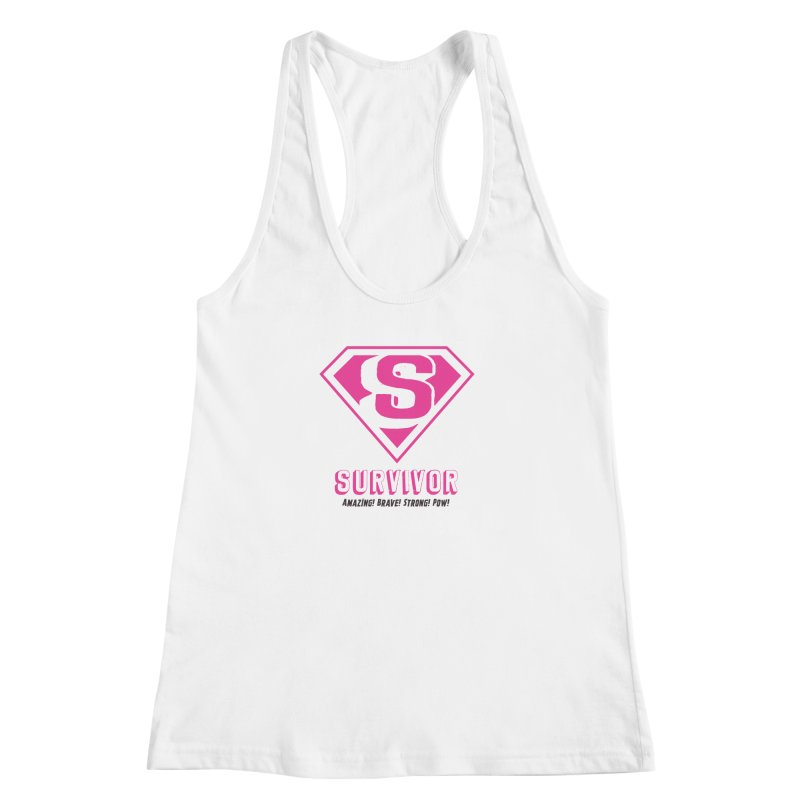 Superwoman Survivor Women's Racerback Tank by Betches Guide to Cancer Shop