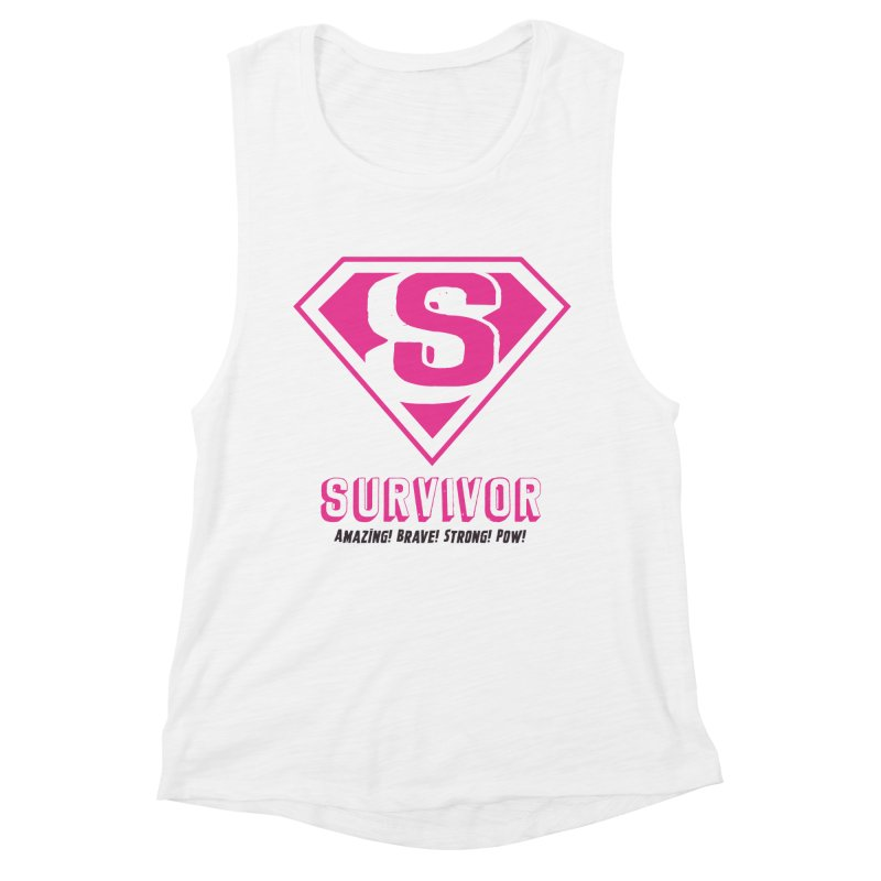 Superwoman Survivor Women's Muscle Tank by Betches Guide to Cancer Shop