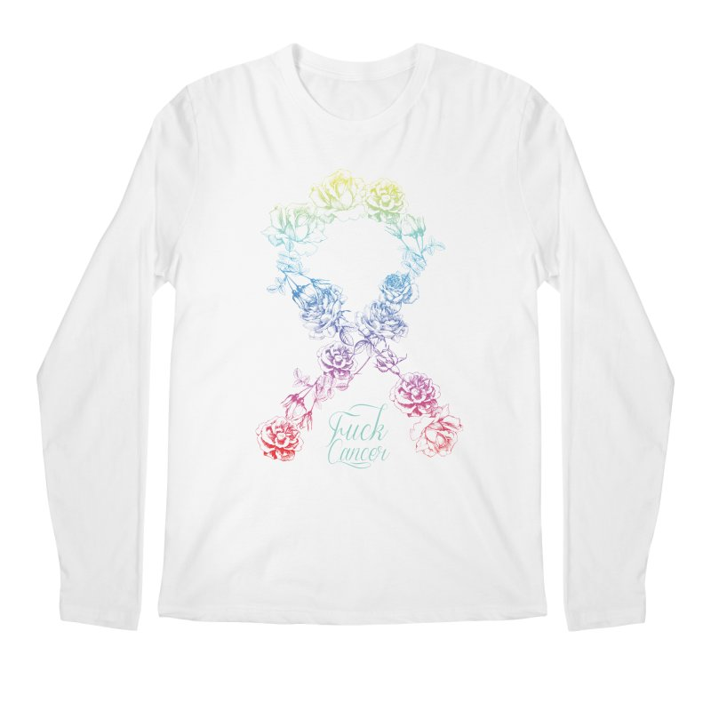 Fuck Cancer - floral Men's Longsleeve T-Shirt by Betches Guide to Cancer Shop
