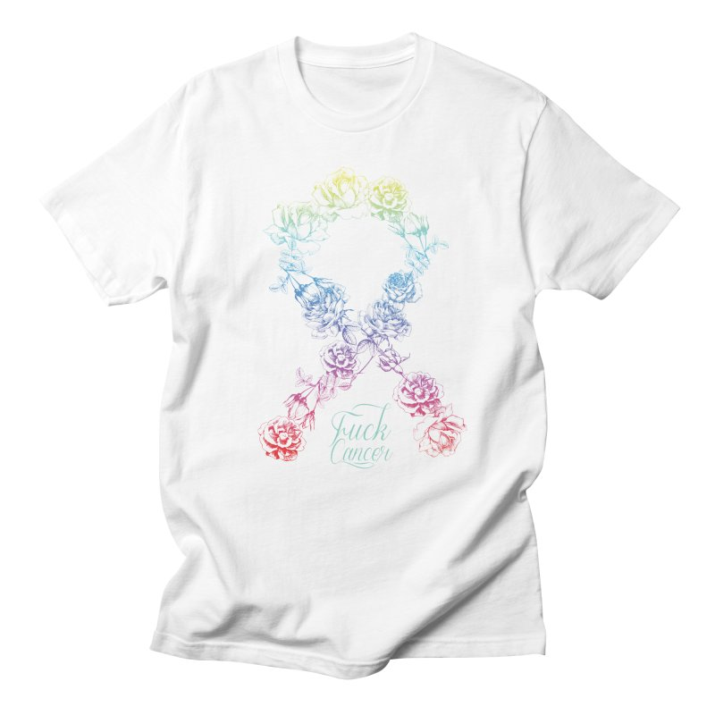 Fuck Cancer - floral Men's Regular T-Shirt by Betches Guide to Cancer Shop