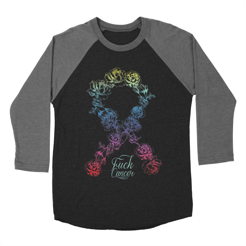 Fuck Cancer - floral Women's Baseball Triblend Longsleeve T-Shirt by Betches Guide to Cancer Shop