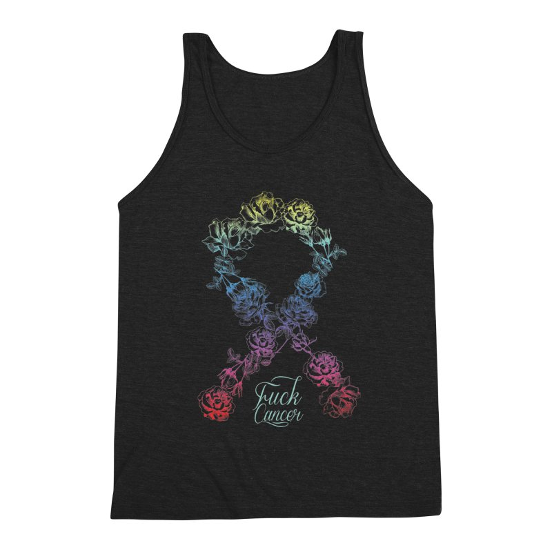 Fuck Cancer - floral Men's Triblend Tank by Betches Guide to Cancer Shop