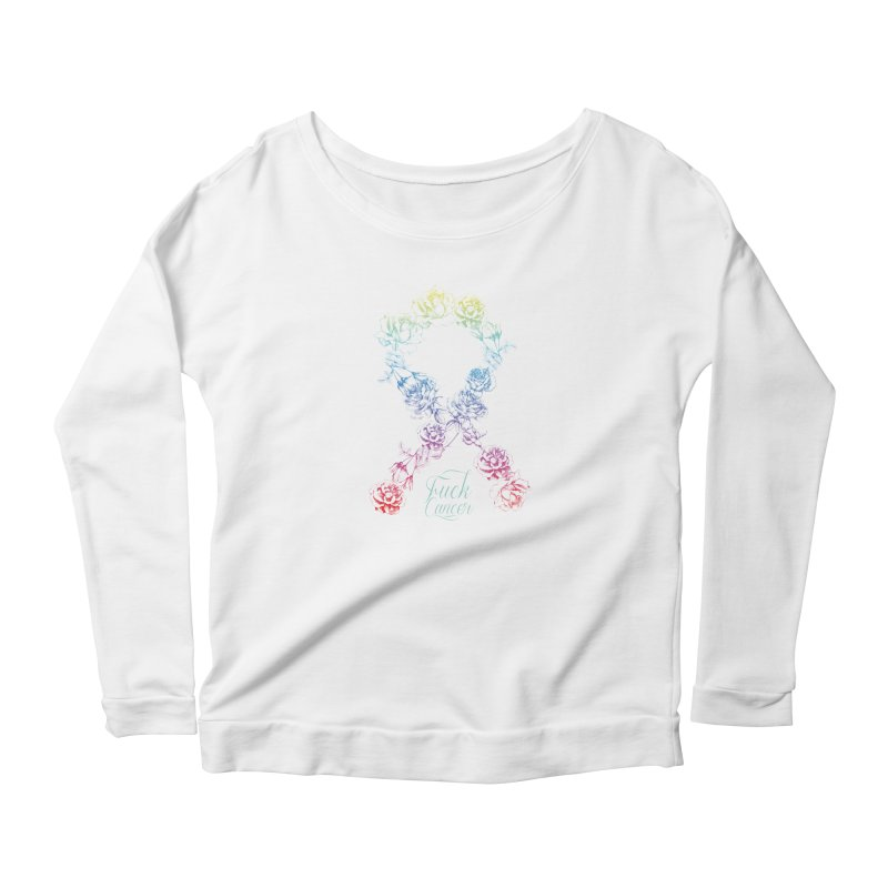 Fuck Cancer - floral Women's Longsleeve T-Shirt by Betches Guide to Cancer Shop