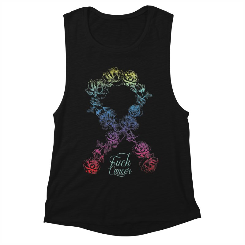 Fuck Cancer - floral Women's Tank by Betches Guide to Cancer Shop