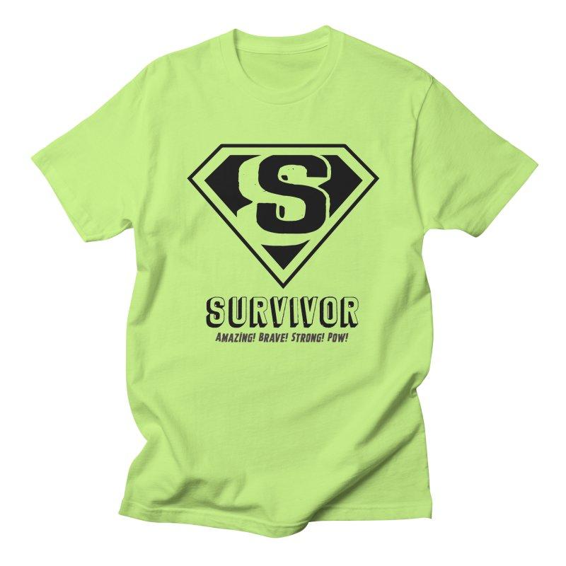 Survivor - black Men's T-Shirt by Betches Guide to Cancer Shop