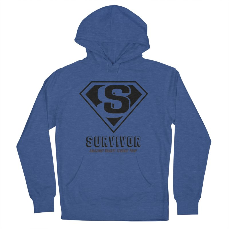 Survivor - black Women's French Terry Pullover Hoody by Betches Guide to Cancer Shop