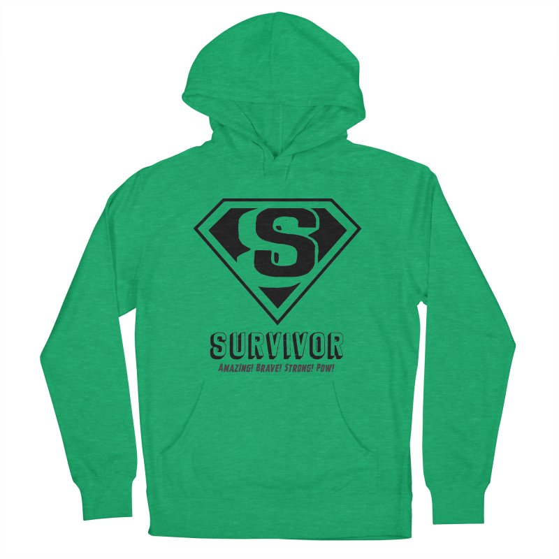Survivor - black Men's French Terry Pullover Hoody by Betches Guide to Cancer Shop