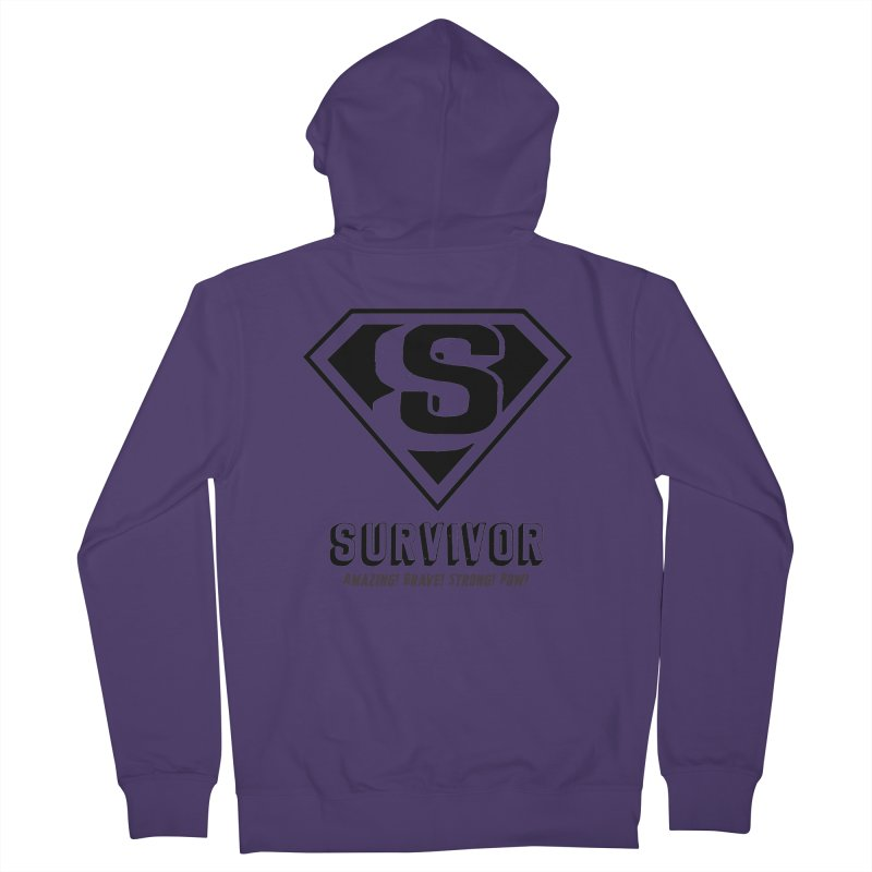 Survivor - black Women's Zip-Up Hoody by Betches Guide to Cancer Shop