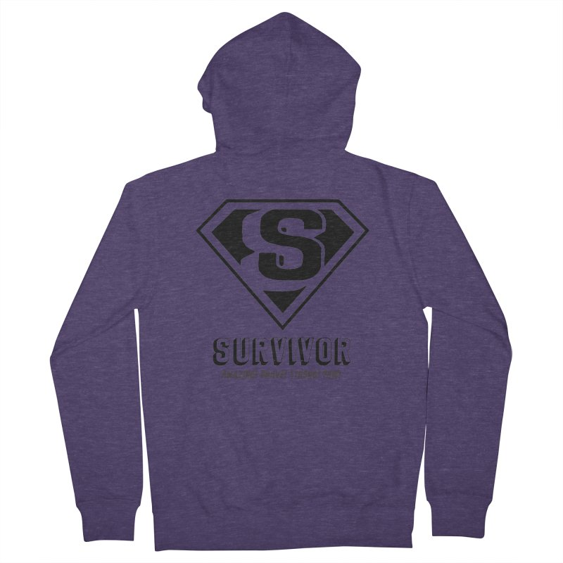 Survivor - black Men's Zip-Up Hoody by Betches Guide to Cancer Shop