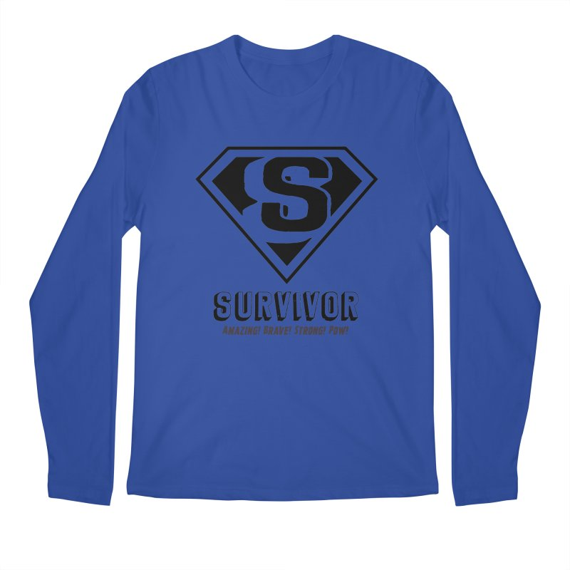Survivor - black Men's Longsleeve T-Shirt by Betches Guide to Cancer Shop
