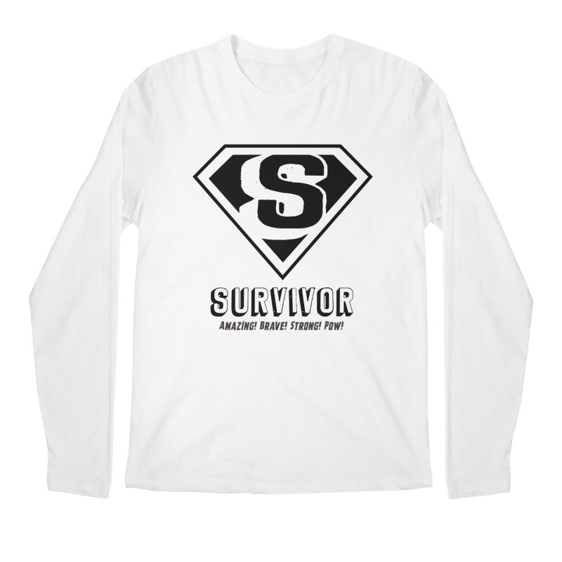 Survivor - black Men's Regular Longsleeve T-Shirt by Betches Guide to Cancer Shop