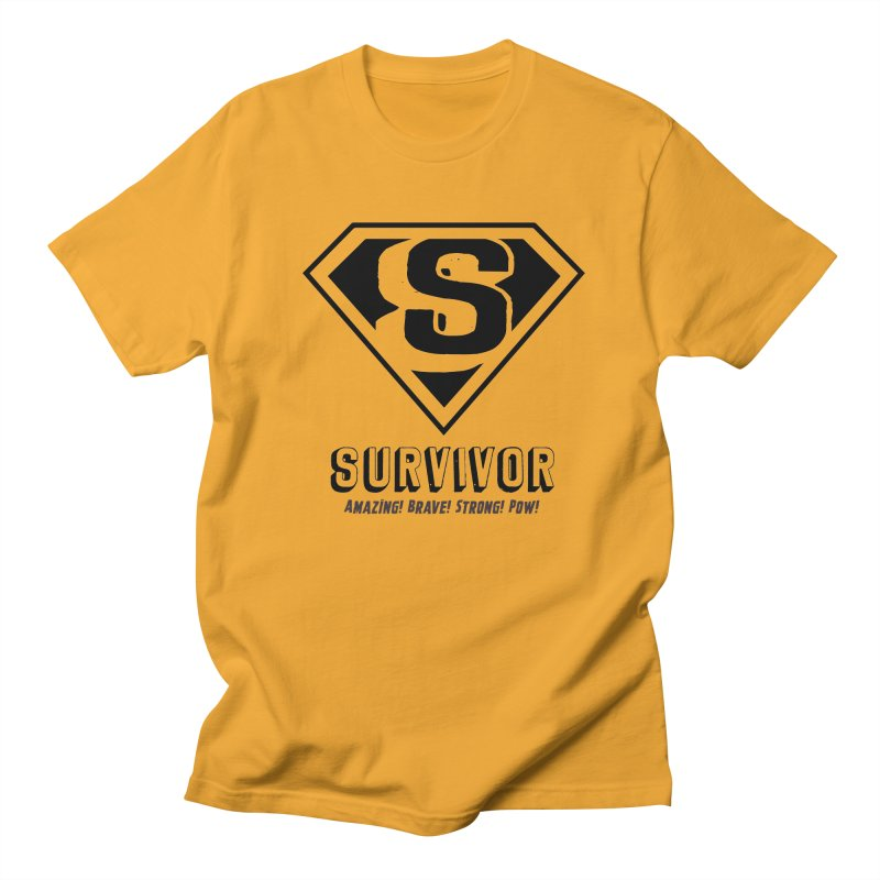 Survivor - black Men's T-Shirt by Betches Guide to Cancer Shop