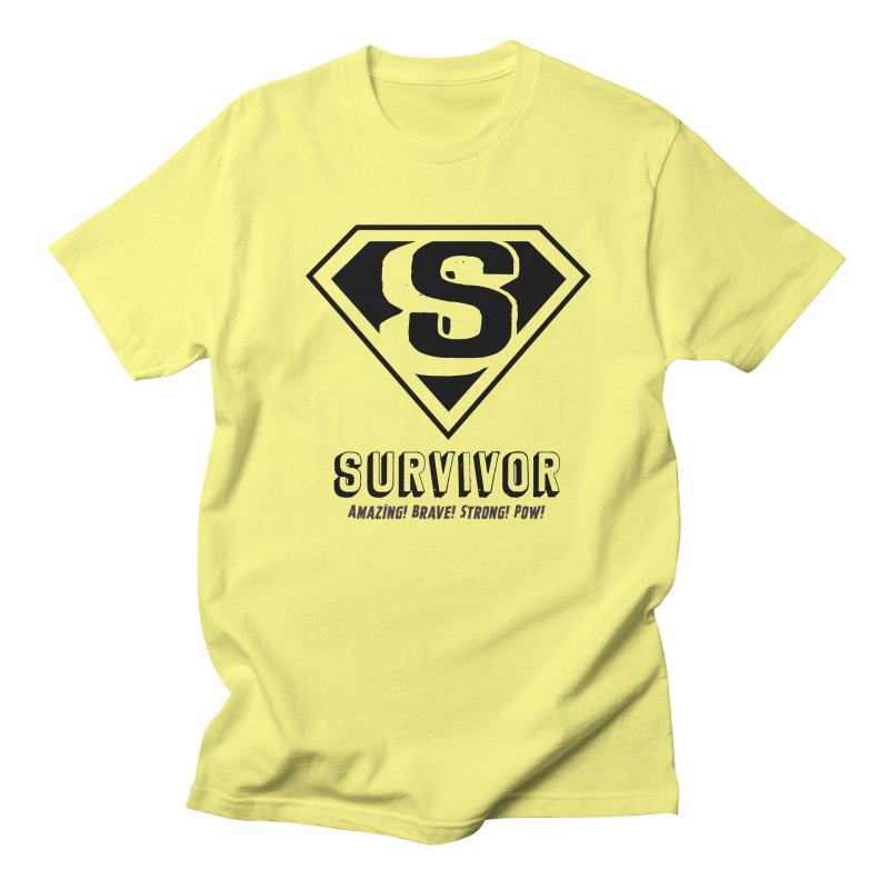 Survivor - black Women's Unisex T-Shirt by Betches Guide to Cancer Shop