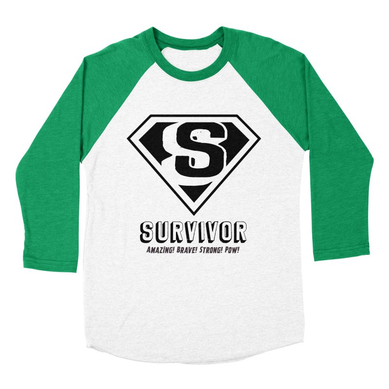Survivor - black Women's Baseball Triblend T-Shirt by Betches Guide to Cancer Shop