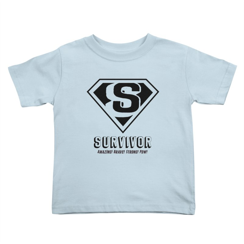 Survivor - black Kids Toddler T-Shirt by Betches Guide to Cancer Shop