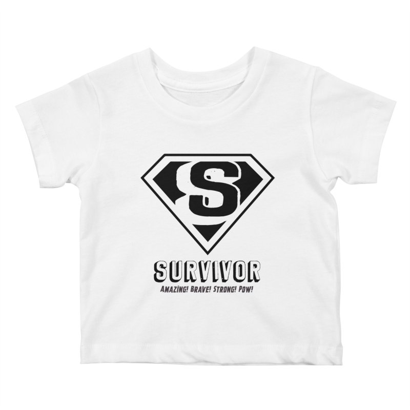 Survivor - black Kids Baby T-Shirt by Betches Guide to Cancer Shop