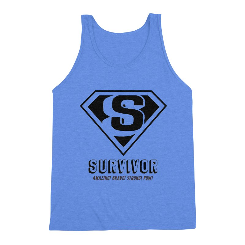 Survivor - black Men's Tank by Betches Guide to Cancer Shop
