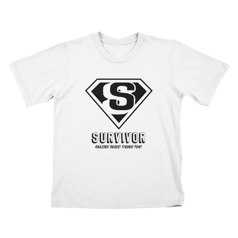 Survivor - black Kids T-Shirt by Betches Guide to Cancer Shop