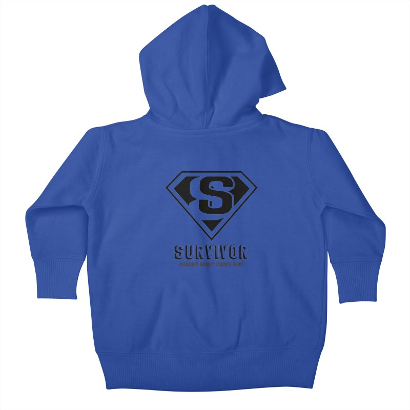 Survivor - black Kids Baby Zip-Up Hoody by Betches Guide to Cancer Shop