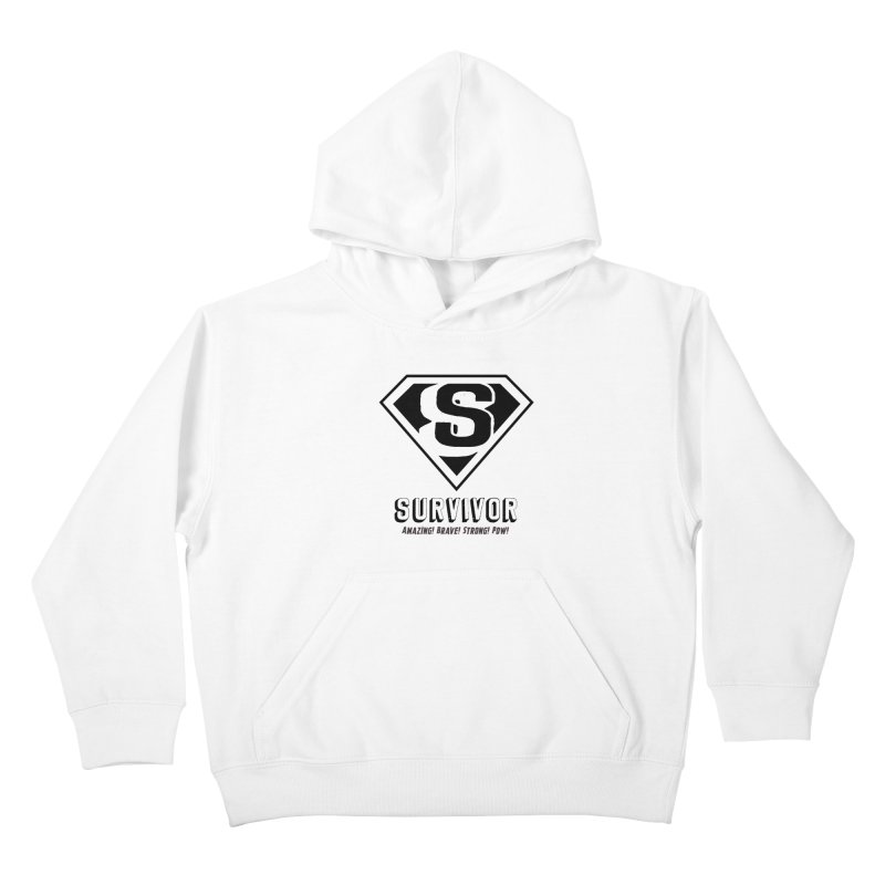 Survivor - black Kids Pullover Hoody by Betches Guide to Cancer Shop