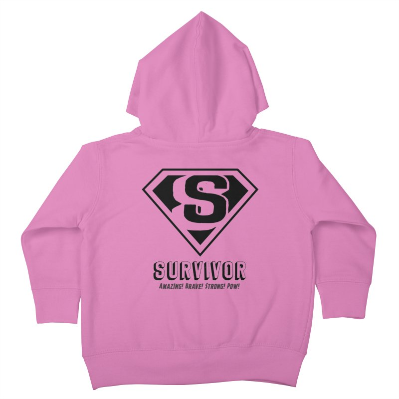 Survivor - black Kids Toddler Zip-Up Hoody by Betches Guide to Cancer Shop