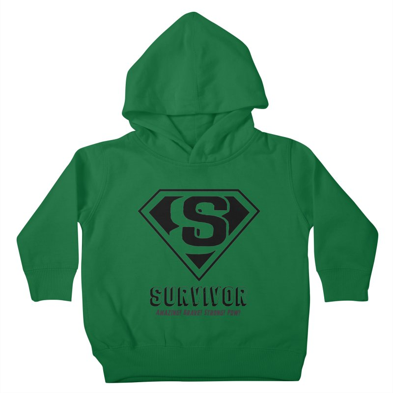 Survivor - black Kids Toddler Pullover Hoody by Betches Guide to Cancer Shop