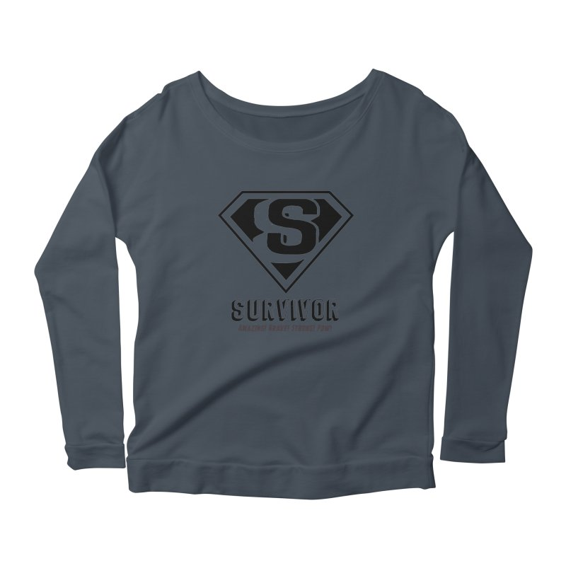 Survivor - black Women's Longsleeve T-Shirt by Betches Guide to Cancer Shop