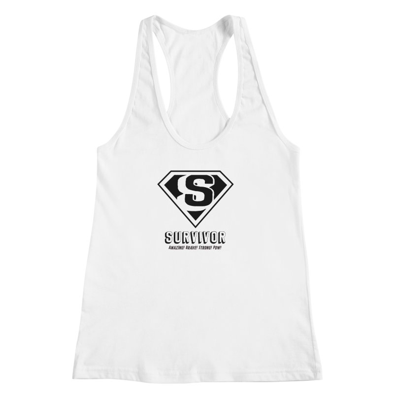 Survivor - black Women's Racerback Tank by Betches Guide to Cancer Shop