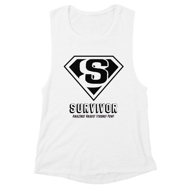 Survivor - black Women's Tank by Betches Guide to Cancer Shop