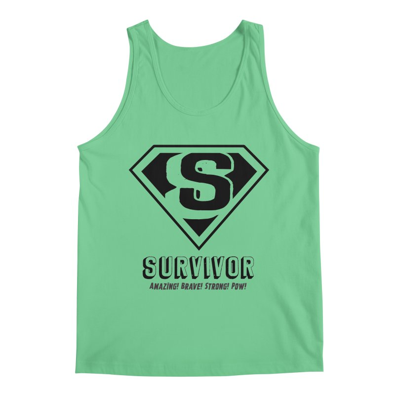 Survivor - black Men's Regular Tank by Betches Guide to Cancer Shop