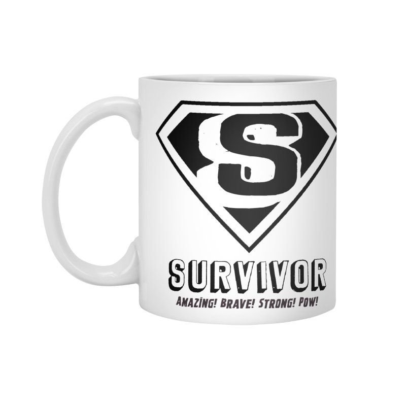 Survivor - black Accessories Mug by Betches Guide to Cancer Shop