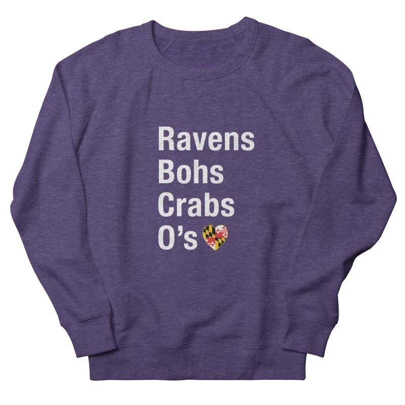 Ravens Bohs Crabs O's Men's Sweatshirt by Betches Guide to Cancer Shop