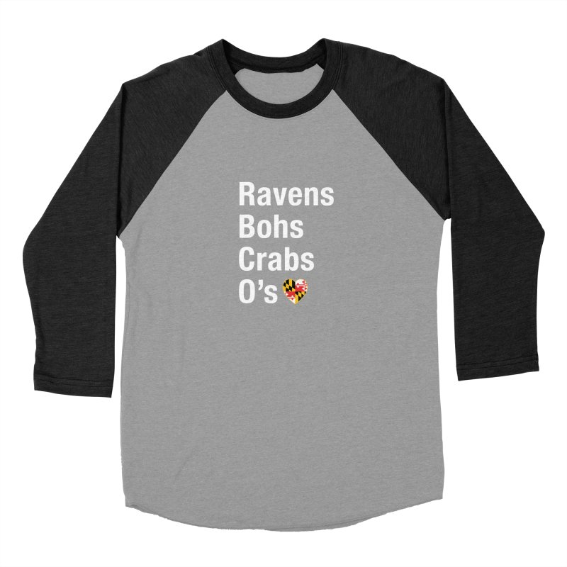 Ravens Bohs Crabs O's Women's Baseball Triblend Longsleeve T-Shirt by Betches Guide to Cancer Shop