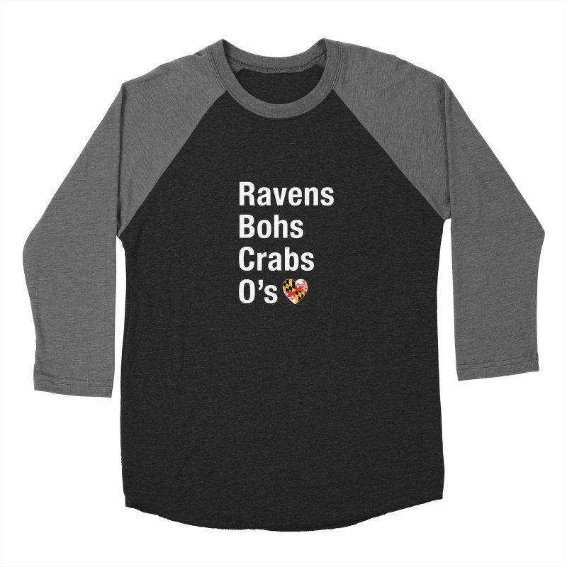 Ravens Bohs Crabs O's Men's Baseball Triblend Longsleeve T-Shirt by Betches Guide to Cancer Shop