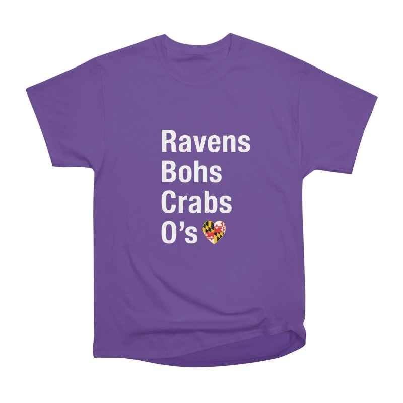 Ravens Bohs Crabs O's Women's Heavyweight Unisex T-Shirt by Betches Guide to Cancer Shop