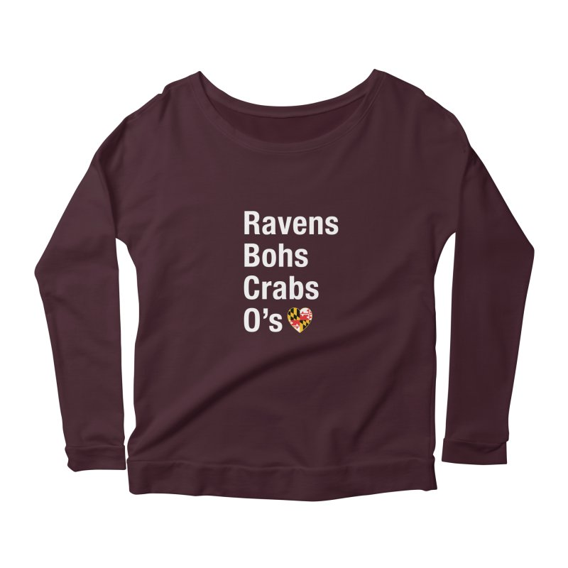 Ravens Bohs Crabs O's Women's Longsleeve T-Shirt by Betches Guide to Cancer Shop