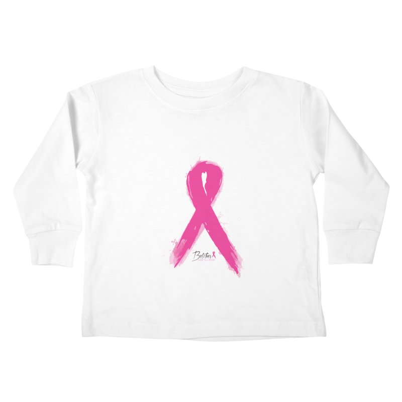 Watercolor Pink Ribbon Kids Toddler Longsleeve T-Shirt by Betches Guide to Cancer Shop