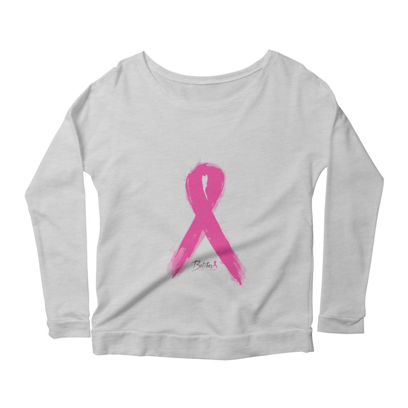 Watercolor Pink Ribbon Women's Longsleeve T-Shirt by Betches Guide to Cancer Shop