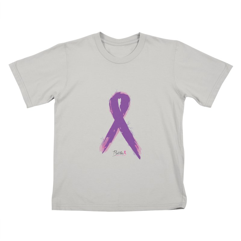 Purple Watercolor Ribbon  Kids T-shirt by Betches Guide to Cancer Shop