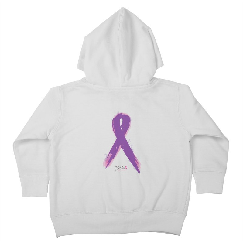 Purple Watercolor Ribbon  Kids Toddler Zip-Up Hoody by Betches Guide to Cancer Shop