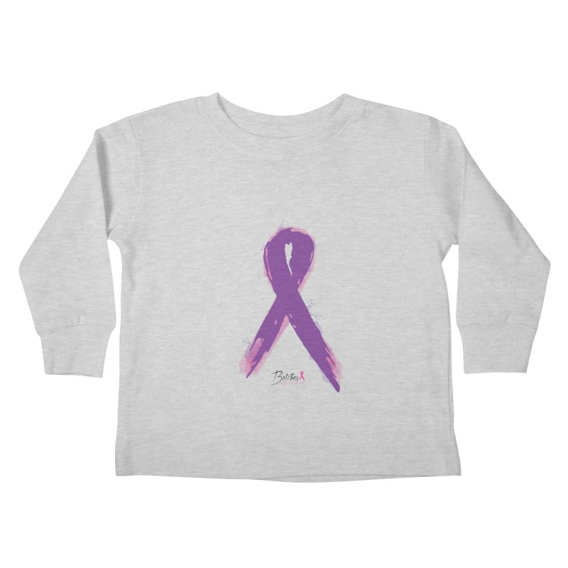Purple Watercolor Ribbon  Kids Toddler Longsleeve T-Shirt by Betches Guide to Cancer Shop